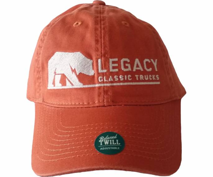 Legacy Classic Trucks Lifestyle & Apparel - Legacy Twill Hat - Orange