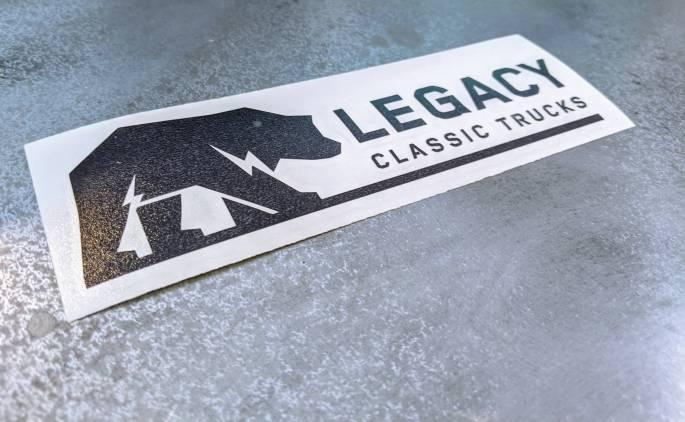 "Legacy Classic Trucks Lifestyle & Apparel - Legacy Classic Trucks Premium Sticker - 6.5"""