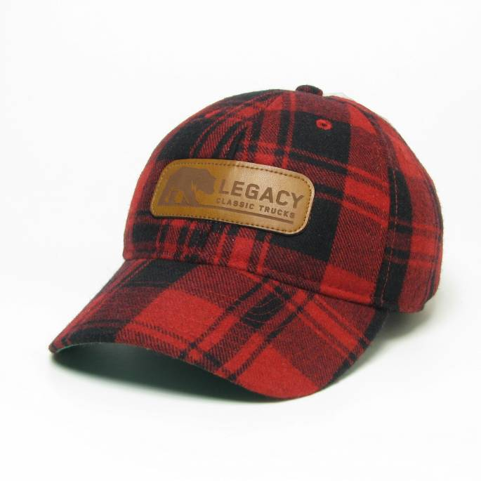 Legacy Classic Trucks Lifestyle & Apparel - Legacy Vintage Wool Flannel Hat - Buffalo Plaid