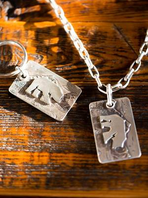 Legacy Classic Trucks Lifestyle & Apparel - Comstock Heritage Sterling Silver Legacy Pendant - Image 2